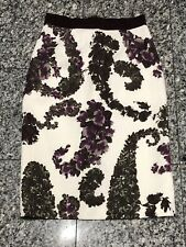 8c0975f04b11 Giambattista Valli Jacquard Floral High Waist Skirt