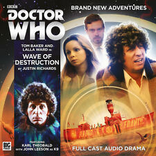 DOCTOR WHO Big Finish Audio CD Tom Baker 4th Doctor #5.1 WAVE OF DESTRUCTION