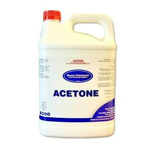 Acetone 100% 5L - Pure Remove Gel Acrylic Nail Polish Remover - Fast Shipping!!
