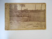 ANTIQUE PICTURE ON CARDBOARD OF MEN WORKING IN A QUARRY IN IND.