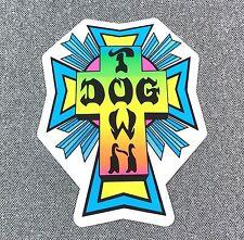Dogtown Neon Cross Skateboard Sticker 2in si