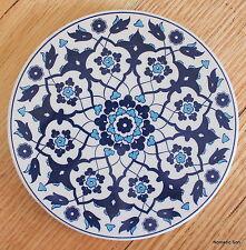 Turkish ceramic trivet ROUND- traditional Ottoman designs,16cm diameter #22