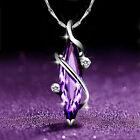 Fashion 4 Styles 925 Silver Amethyst Necklaces Pendants Women Wedding Jewelry