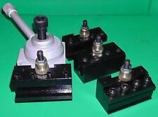 Mini Quick Change Toolpost (suit 7x10, 7x12 and 7x14 lathes) with HSS PO blades