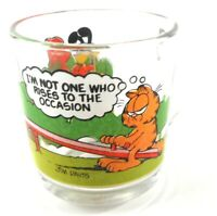 Garfield & Friends McDonald's Anchor Hocking Coffee Cup Glass Seesaw Odie Pooky