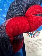 New ListingDestination Yarns - Mcn Sock Yarn - 400 yds - Cashmere/Wool - Cleveland Indians