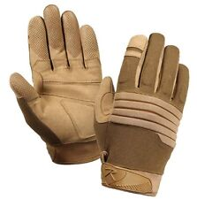 """NIP Rothco Size Medium """"Coyote"""" Color Padded Knuckle Gloves"""