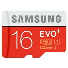 Samsung 16GB EVO plus 80MB/s MicroSD SDHC UHS-I Class 10 Memory Card Adapter