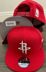 Houston Rockets RED White Snap Snapback 9Fifty New Era Cap 950 Hat OSFA NBA