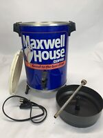 Vintage Maxwell House Coffee Pot Brewer 30 Cup Percolator West Bend