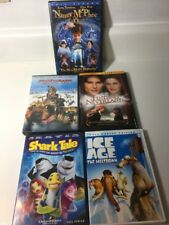 DVD 5 Kids Children Family DVD Movies Shark Tales Ice Age Chilly Dogs Free Ship