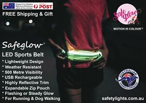 SAFEGLOW® Glowing LED Running & Cycling Rechargeable Belt + FREE $11.95 Gift!