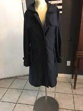 SA Burberry Tess Trench Coat Black Sz 6