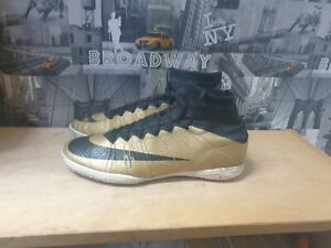 Gold Mens Nike MecurialX Proximo IC Football shoes UK size 9