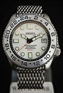 Submariner Custom SKX007 Divers Watch Seiko Hacking Movement *FULL LUME DIAL MOD