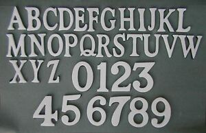 1.5 - 2 Inch Self Adhesive Numbers & Letters Solid Brass White Powder Coated
