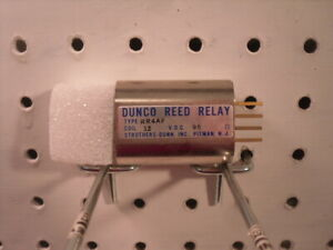 RR4AF Dunco Shielded Reed Relay Struthers-Dunn 4PST NO Struthers-Dunn