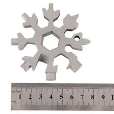 20 In 1 Multi Screwdriver Tool Stainless Steel Snowflake Shape EDC Flat Cross
