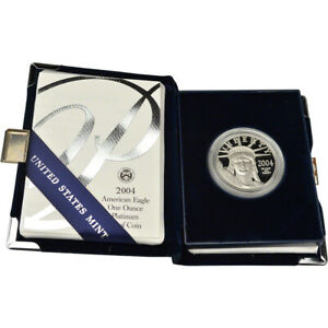 2004 W American Platinum Eagle Proof 1 oz $100 in OGP