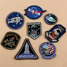 8Pcs Space Explorer Iron On Sew Patch NASA Embroidered Bag Jeans Badge Applique