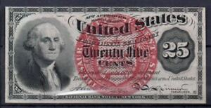 USA Fr 1301 25 Cents 4th Issued 1863 UNC Rare