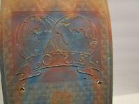 Vintage  1970s skateboard Old school fiberglass Lotus Swirl patterned