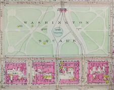 New Listing1916 Greenwich Village Manhattan New York City Map Broadway Washington Square