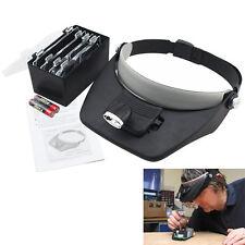 LED Kopflupe Stirnlupe Brillenlupe Lupenbrille Lupe Licht mit 4 Vergrößerungs