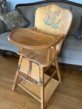 Vintage, Wooden, Thayer Antique Convertible Child's High Chair- 1950's