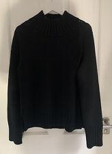 BN TOAST Black 100% Wool High Neck Jumper size L
