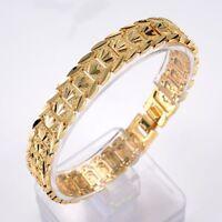 """18K Yellow Gold Filled Men's/Women's Bracelet GF 11mm Chain 8""""Link Jewelry"""