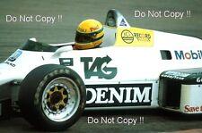 Ayrton Senna Williams FW08C Donington Park Test 1983 Photograph 3
