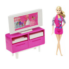 1/6 Scale Fit Maison de poupée Barbie Dollhouse Meubles Play TV Stand Cabinet