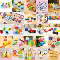 Lots Rubber Pen Pencil Eraser Kids Stationery School Supplies Stationery Gift