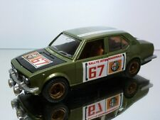 MEBETOYS  ALFA ROMEO ALFETTA RALLYE #67 - GREEN 1:25 - GOOD CONDITION - RESTORED