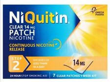 Niquitin Clear 14 mg step 2 clear patches 1 Week kit