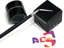 Long Lasting Waterproof Matte Black GEL Eyeliner & Eye Liner Angle Brush