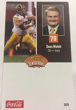Sean Welsh 2018 Senior Bowl Football Card Iowa NFL Draft
