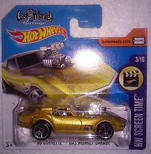 HOT WHEELS HUNT (1) 2017 - '68 CORVETTE - GAS MONKEY GARAGE - SHORT CARD (MOMC)