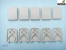 Pack of 10,  Hettich MultiTech Kitchen Drawer Front Connector Covers, (grey)