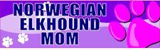 Norwegian Elkhound Mom Cute Pet Dog Sticker