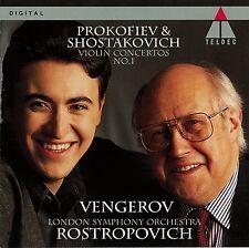 PROKOFIEV & SHOSTAKOVICH: Violin Concertos No.1 Mstislav Rostropovich Vengerov