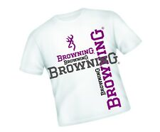 """BROWNING FISHING  T-SHIRT WHITE WITH LARGE LOGO SIZE MEDIUM 36"""" APPROX"""