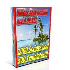 1000 SCRIPTE 500 TEMPLATES für HP MRR-Lizenz PHP Web Vorlagen Lizenz Scripts TOP