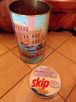 SKIP-baril de lessive vintage en métal-vue de Venise-porte parapluie