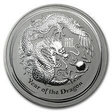 Perth Mint Australia $30 Lunar Series II Dragon 2012 1 kg kilo .999 Silver Coin