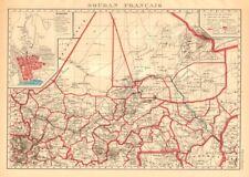 FRENCH SUDAN (Now Mali). Soudan Français. Bamako city plan de la ville 1938 map
