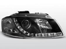 LPAU44 Fari Fanali Anteriori Audi A3 8P 03-08 a led Dayline nero TuningShop-TT