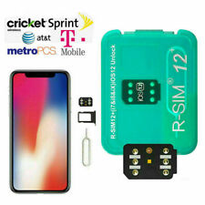 RSIM12+ 2020 R-SIM Nano Unlock Card fits iPhone 11/XS/X/8/7/6/6s/5/4G iOS13
