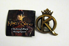 Kings Quest Pin MINT NEW SEALED king's    pax prime 2015 promo swag exclusive